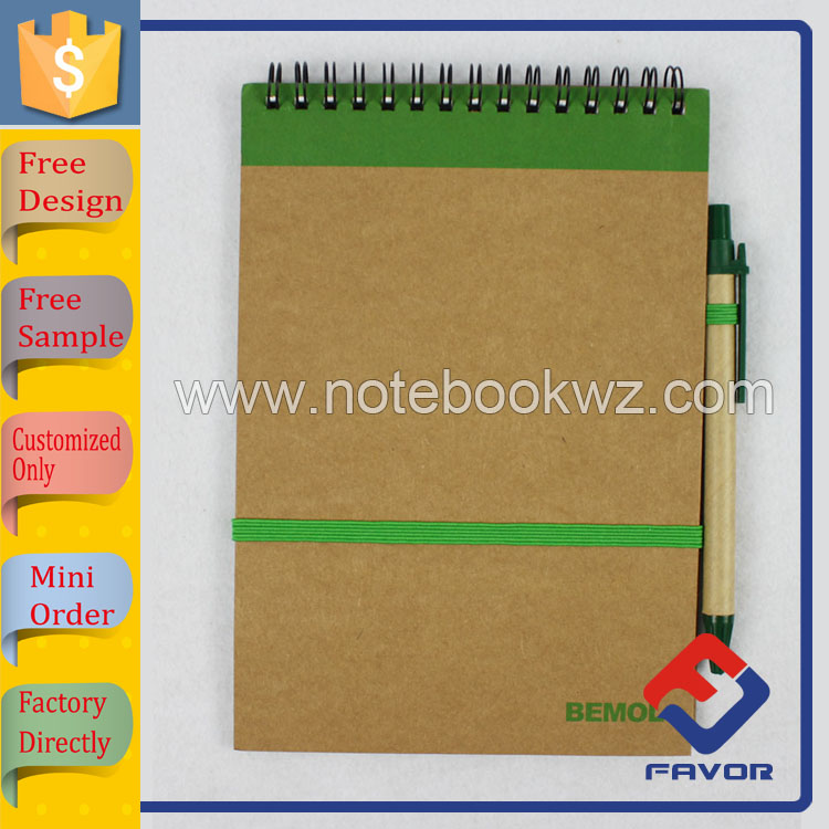 top bound spiral notebook recycled paper A6 size | Favor